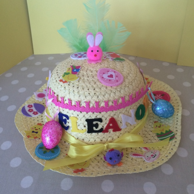 Decorate Your Own Easter Bonnet Basket Bejewelled Egg Button